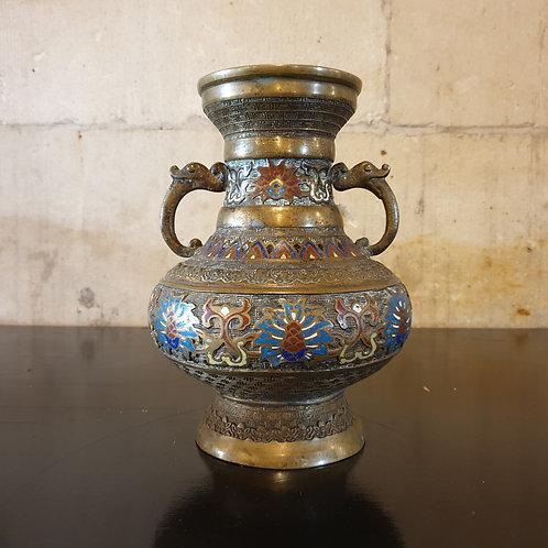 antique brass vase