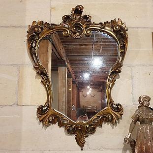 italian mirror in gilded frame