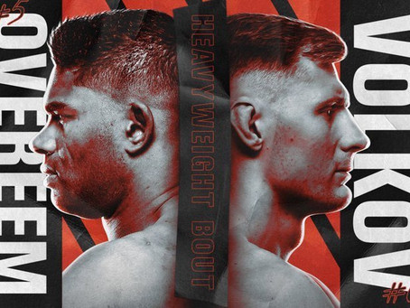UFC Free Bet: Alistair Overeem vs. Alexander Volkov Card
