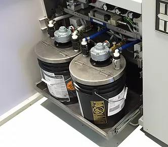 Système de pompage pour vernis chargés SCC.