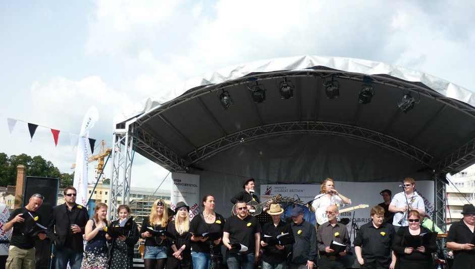 Bristol Harbourside Festival, in the Peabody Choir (with Ant Noel and the Peabody Drakes)