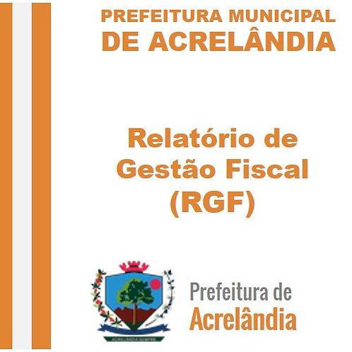 RGF de 2016 - 2º Quadrimestre - Maio e Agosto