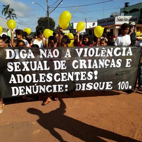 Assistência Social e Cras realizam caminhada de combate ao abuso e exploração sexual contra crianças
