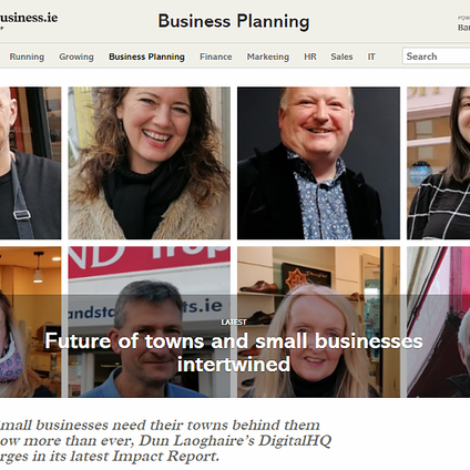 We believe that the future of towns and small businesses are completely intertwined - we need to act
