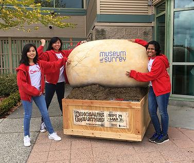 girls with dinosor egg.JPG