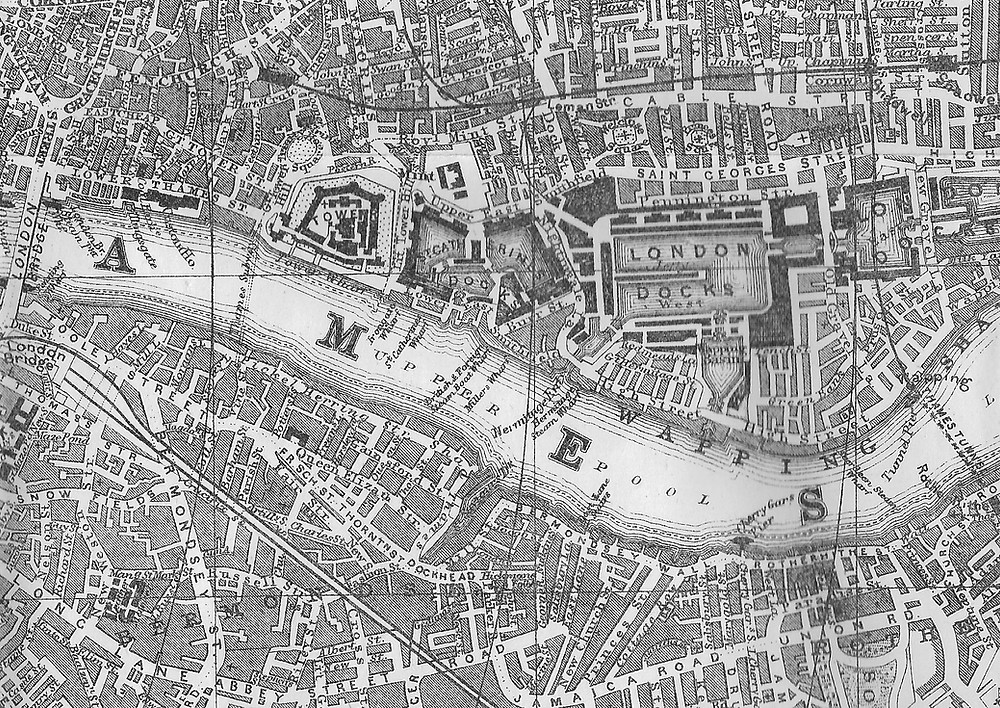 Thames Subway to Thames Tunnel map