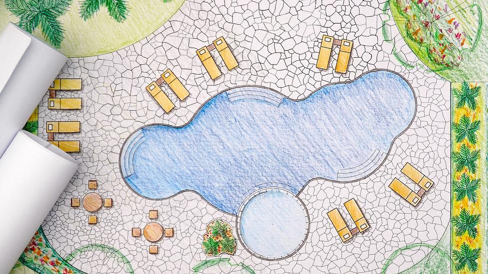 Landscape Design, LOT SIZE 15,001 SQF - 1 Acre