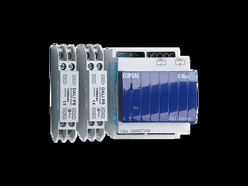 2 канальный интерфейс DALI,c 2 источниками питания