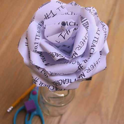 #1 Teacher's Personalised Paper Rose