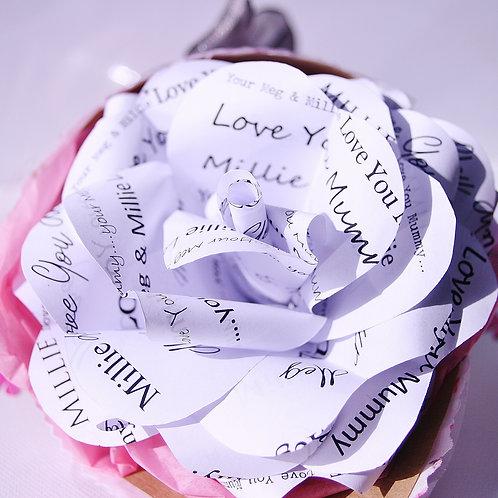 """Love You Mummy"" Paper Rose"
