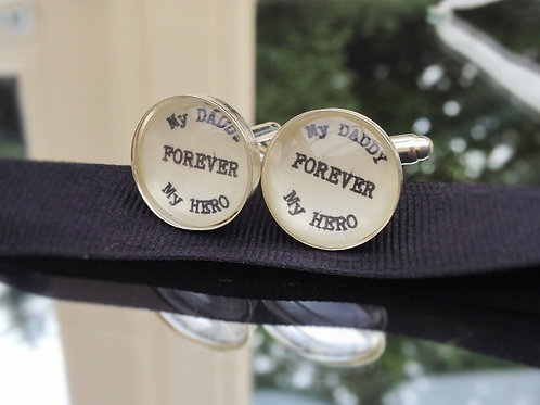 My Dad My Hero Cufflinks