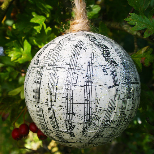 Musical Score Baubles