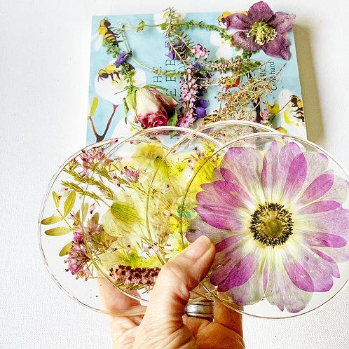 Fresh Flower Drink Coasters