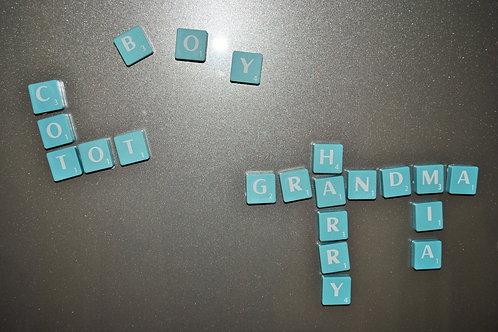 Scrabble Vowel Magnets