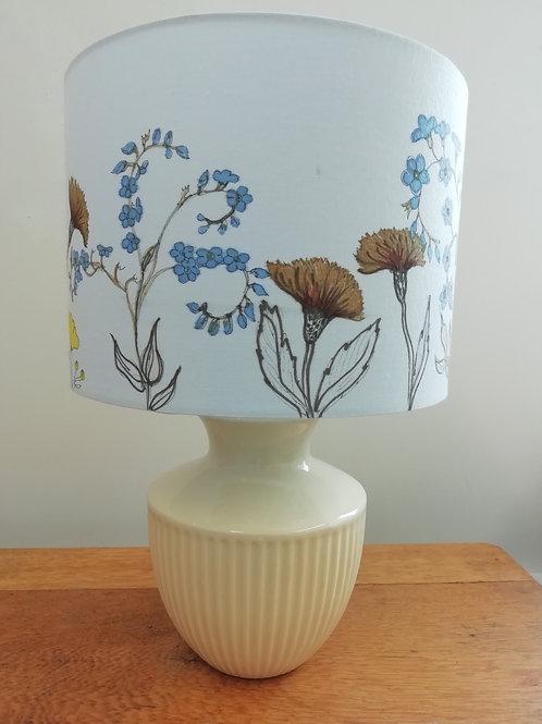 Hand Drawn Machair Flowers Lampshade D(28cm)