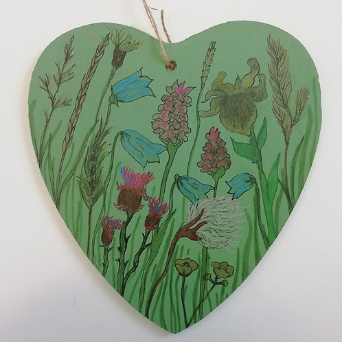 Machair Flower Heart - Large