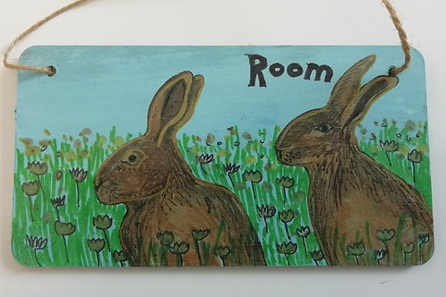 Customised Name Plate - Two Rabbits