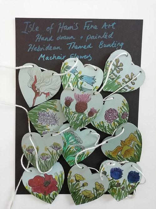 Machair Flower Bunting - Hand Drawn