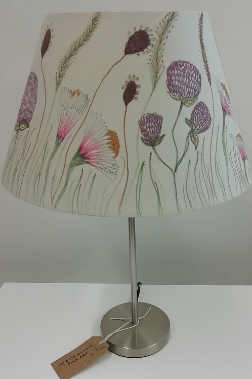 Hand Drawn Machair Flowers Lampshade (D)30.5cm