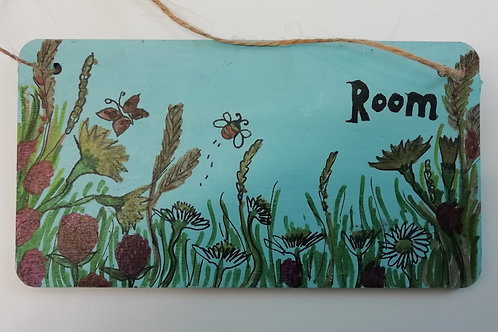 Customised Name Plate - Machair Flowers with Bee