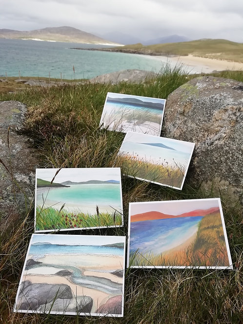 Harris Beaches Greeting Cards - 5 Pack