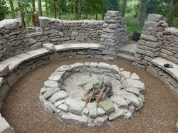 Fire Pit & Seating Area
