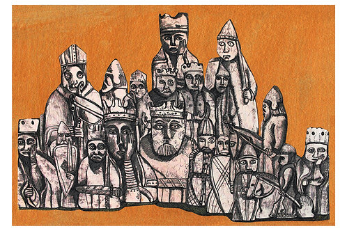 Chessmen - Giclee Print by Marigold Williams