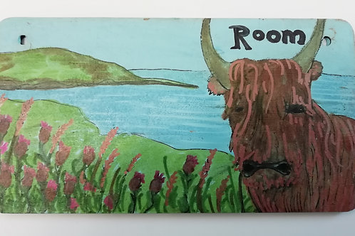 Customised Name Plate - Highland Coo