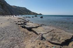 FLAT ROCKS AT DAFNI BEACH