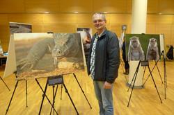 Robert Kalb at the exhibiton