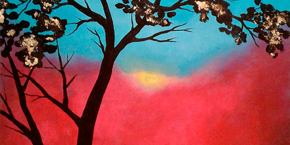 """Adult Paint Night """"Golden Tree"""""""