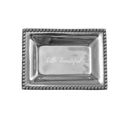 Infinity Extra Small Tray with Hello Beautiful