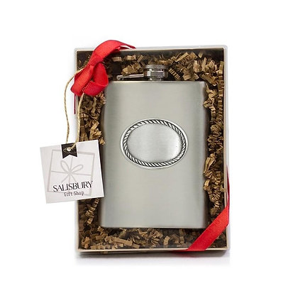 Stainless Steel Rope Edge Flask