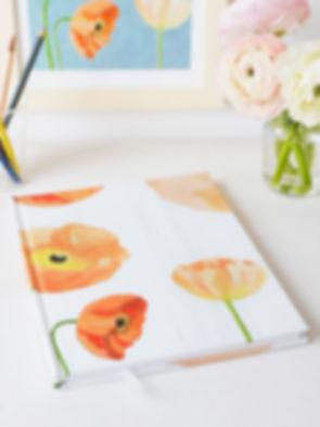 Sketchbook Peach Poppies on Snow.jpg