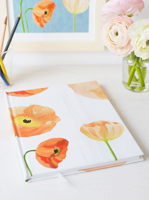 Sketchbook Peach Poppies on Snow.jpg