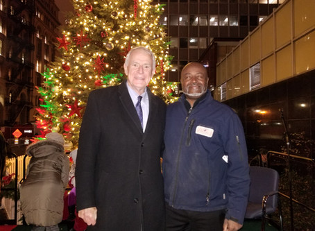 Trotter Industries enjoying the 106th Lighting of the Christmas tree at City Hall in Milwaukee.
