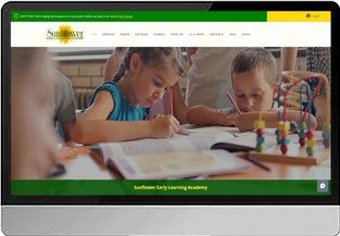 Sunflower Early Learning Academy (WIX- Custom Design)