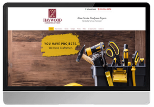 Haywood Construction Handyman Services (WIX- Custom Design)