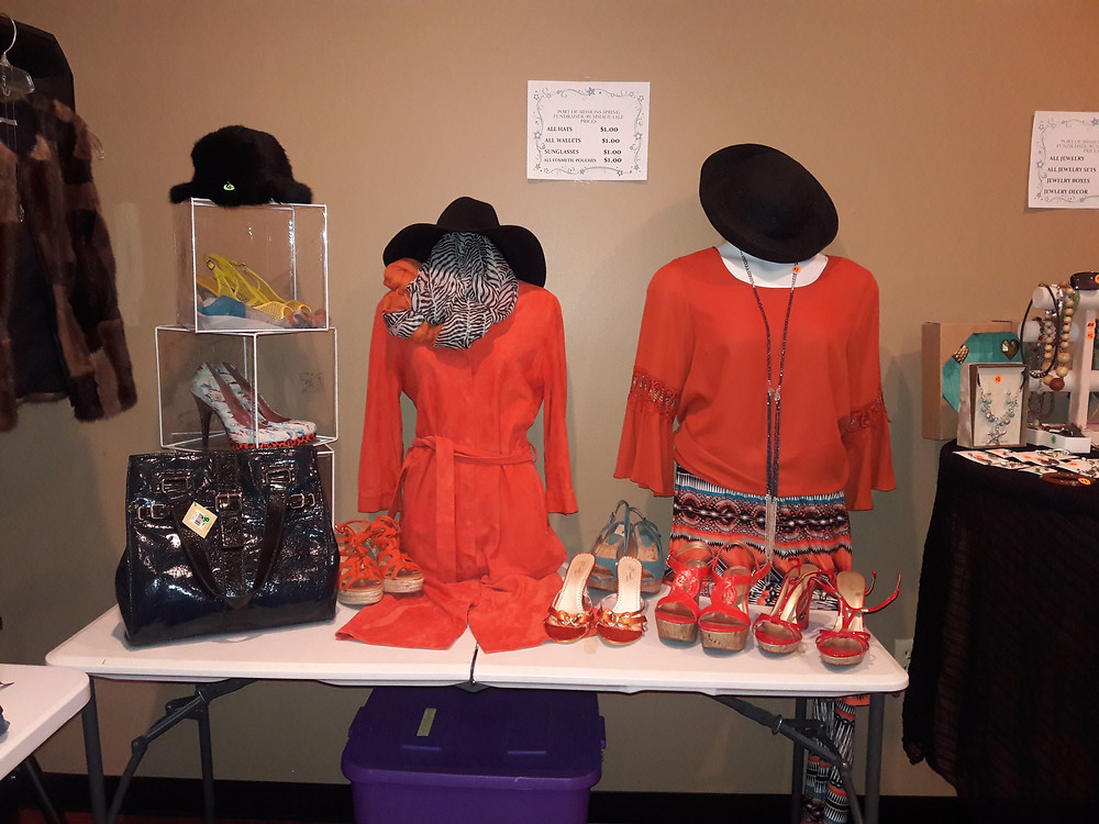 orange shoes and orange dress