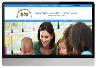Little Hands Learning Center Academy (WIX- Custom Design)