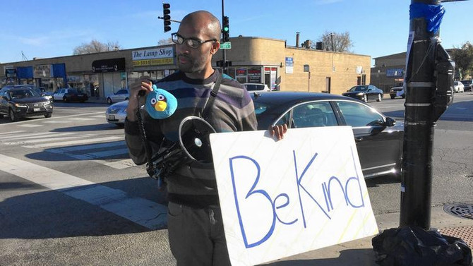 """South Shore Man Takes His """"Kindness Campaign"""" to Mount Greenwood"""