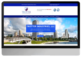 Trotter Industries LLC Janitorial Service (WIX- Custom Design)