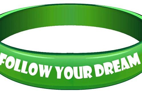 Custom Rubber Follow Your Dream Rubber Wristband