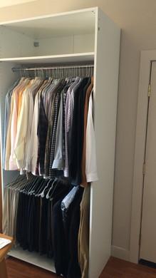 Setting the racks to match my needs.