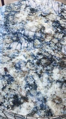 Custom granite top with blue veins