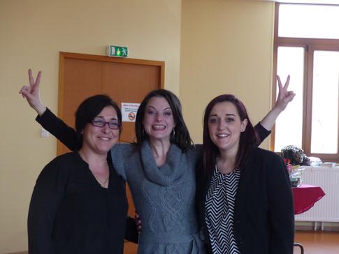 Celia, Marie et Gwen, nos  super maquilleuses