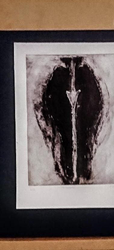 carborundum, chine-collé, etching, intaglio printmaking