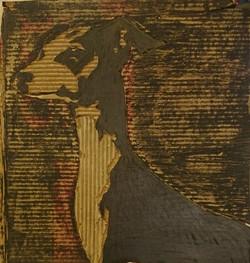 sighthound collage/relief