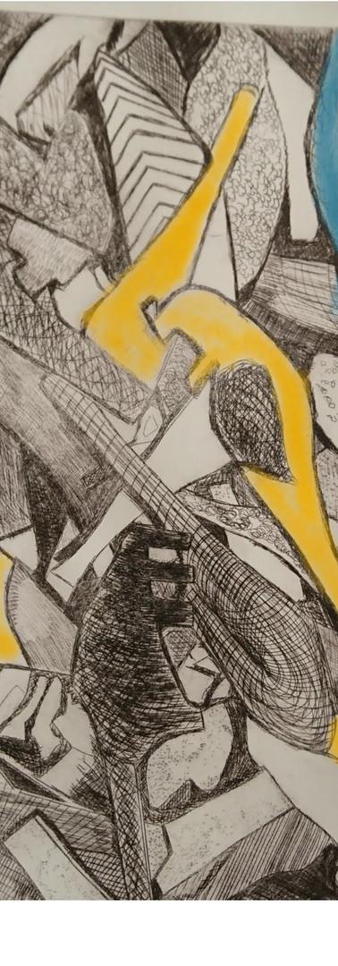 large scale intaglio print