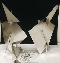tetal maquettes (sheet tin)